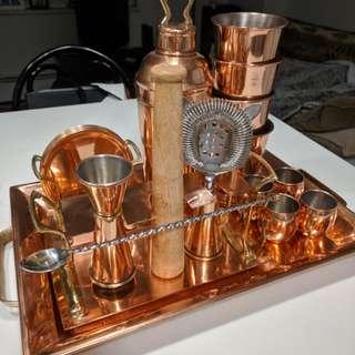 Pottery Barn Copper Bar Set