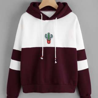 cute red/maroon cactus hoodie