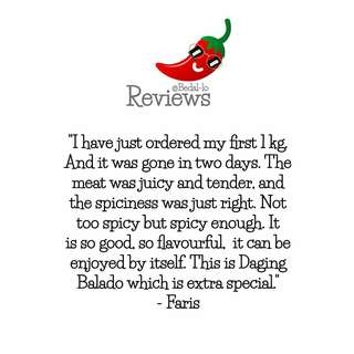 Verified Reviews on our Spicy Beef Chillies
