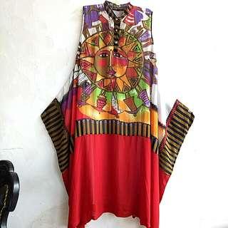 Long dress yukensi motif