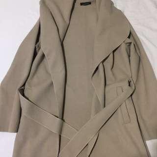 Boohoo drape coat