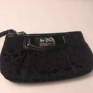 Authentic Coach Wristlet Bag