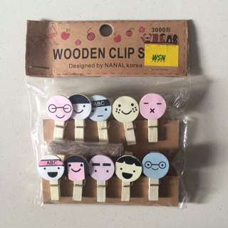 Wooden Clips