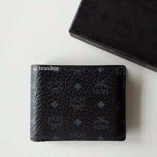 Authentic MCM Visetos Claus Bifold Wallet W/ Card Case