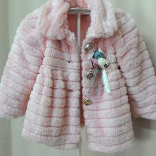 Pink Fluffy Jaket