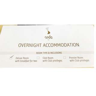 GREAT SAVINGS ALERT!!! Overnight Hotel Accommodation at Seda BGC.