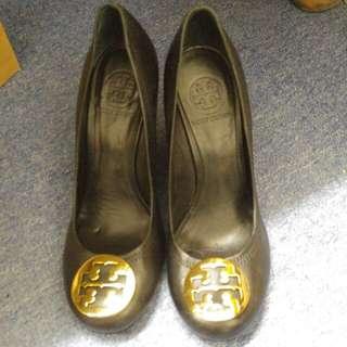 二手真皮Tory Burch 高跟鞋 (Size 8)