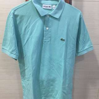 Lacoste Polo Shirt (Teal, US S, Classic Fit)