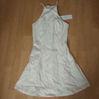 White Closet White Halter Neck Dress