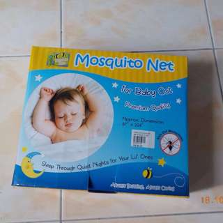 NEVER USED BUMBLE BEE MOSQUITO NET FOR BABY COTS