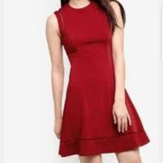 Zalora Collection Seam Detail Fit and Flare Dress