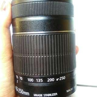 55+250 & 35-135 lensa canon