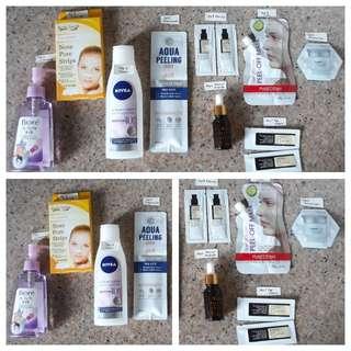 Skincare bundle - Bargain price for popular brands like Biore, CosRX, A'Pieu, Elujai, It's Skin, etc.