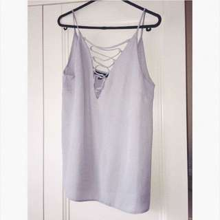 Missguided Lace Up Chiffon Cami