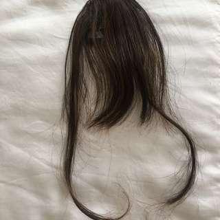 Thin Bang Hair clip Brown