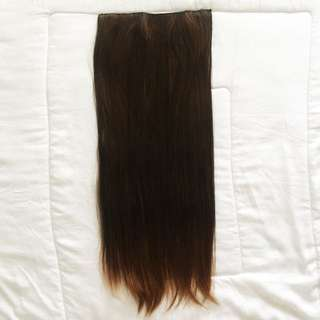 Seven7 Revolution Hair clip Brown Straight Lurus 75 cm