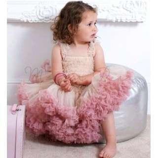Ruffled Layer Kids Tutu Ball Gown Party Dress
