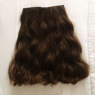 Seven7 Revolution Hairclip Wave Curly Brown 55 cm