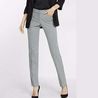 Ladies Grey Cigarette Pants