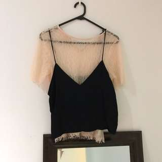 Zara Cami Lace crop top