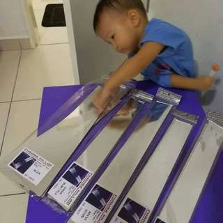Pv mirror pillar bukan sticker