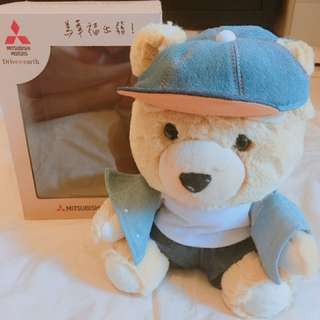 (全新)MITSUBISHI 三菱汽車 三菱幸福熊 泰迪熊 收藏品