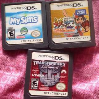 Nintendo DS games My Sims Transformers Akayashi fighting from USA and Japan