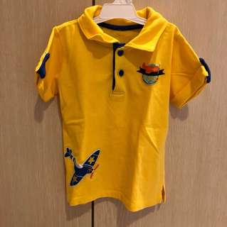 Yellow plane polo