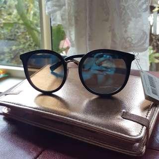 Cotton on vintage boho blue revo black dublin round sunglasses sunnies cateye bumble bee