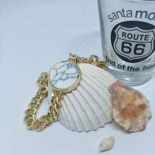 Marble bracelet in white or teal