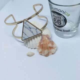 Triangle marble bangle