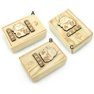 (Manekineko - Lucky Cat) Wooden Name-card Holder Laser Engraving & Woodcraft Customisation