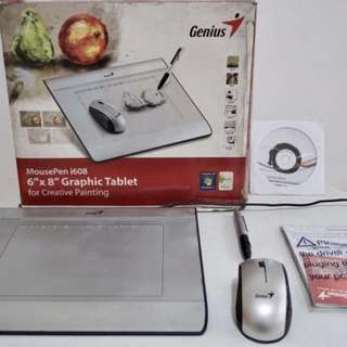RUSH SALE!! Genius MousePen i608- 6x8 Graphic Tablet