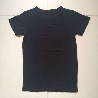Plain Black V-neck Shirt