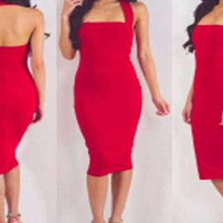 BRAND NEW ELEGANT RED DRESS
