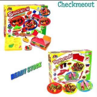 🌈READY STOCK🌈Kids Plasticine Teppanyaki/Sandwich Play Doh