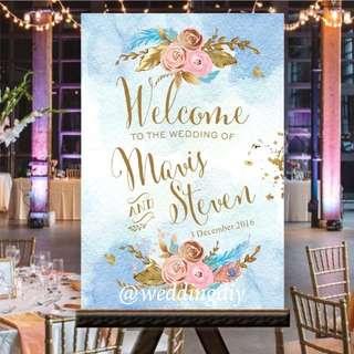Wedding Poster Signage Chart Customised #budgetwedding #budgetbride