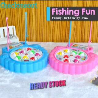 🌈Ready Stock🌈Rotating Fishing Toy for Kids