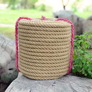 HEMP ROPE 10MM X 1M Strong String Craft Twine for DIY & Arts Crafts, Christmas Gift Packing, Gardening and Recycling