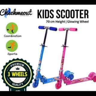 🌈READY STOCK🌈Kids Foldable 3 Wheels Scooter