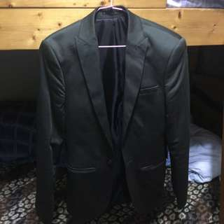Asos 墨綠色西裝外套 (尺寸chest 32in)
