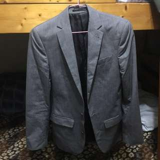 Asos 灰色西裝外套(尺寸chest 32in)