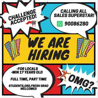 Job searching? LOOK HERE!! Students welcomed