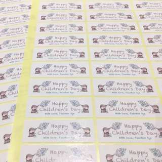 40pc Custom Logo Rectangle Stickers - Your own design
