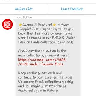Carousell feature 😍😍😍😘