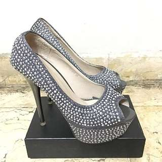 Loubotin Look a Like Bling Heels