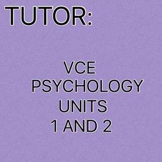 VCE Psychology Units 1/2 and 3/4 Tutor