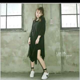 🚚 全新✨LULUS-D韓製-下擺不規則傘擺洋裝  #手滑買太多