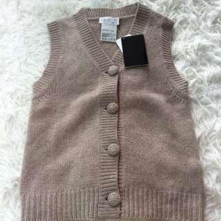 New Agnes b 100% cashmere vest Sz 1