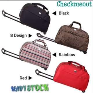 🌈READY STOCK🌈Travel Luggage Trolley Duffle Bag